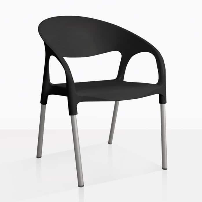 black libby chair angle