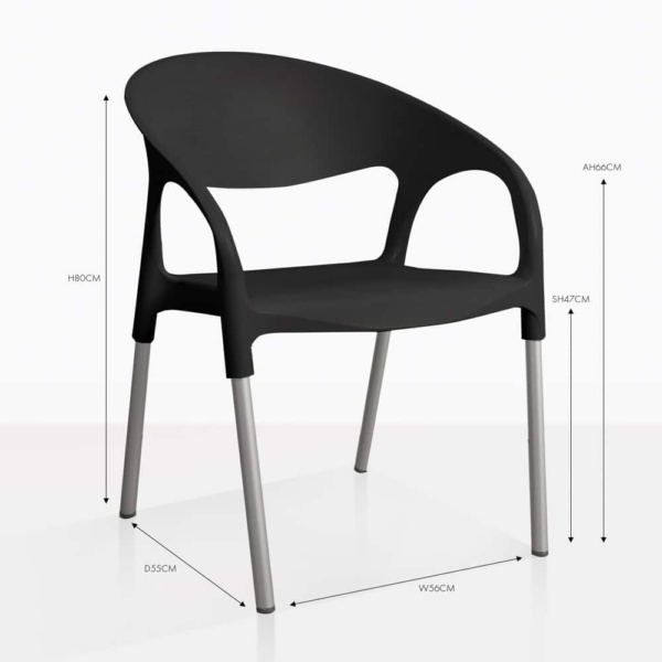 libby plastic arm dining chair