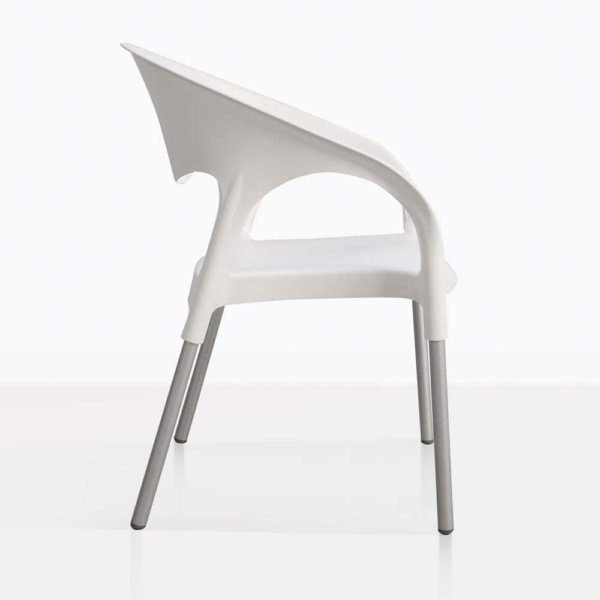 Libby White Plastic Cafe Dining Chair
