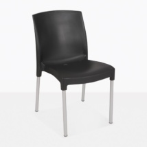 Juli Cafe black plastic outdoor dining chair
