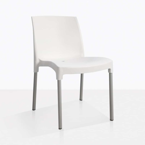 white - Liz chair - angle