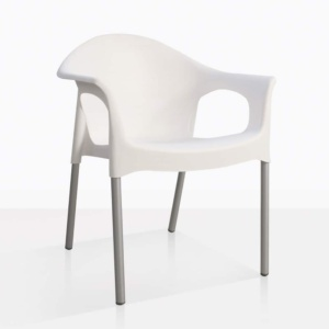 Liz White Plastic Cafe Dining Chair