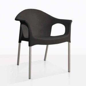 black angle Liz chair