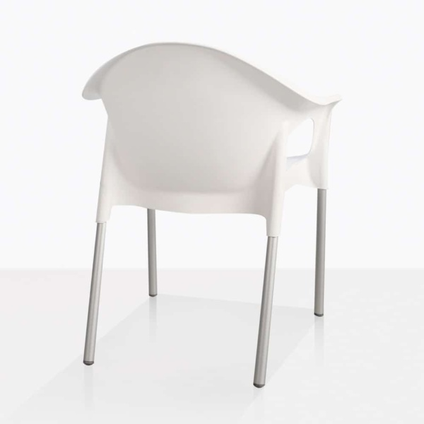Liz White Plastic Cafe Dining Chair Back
