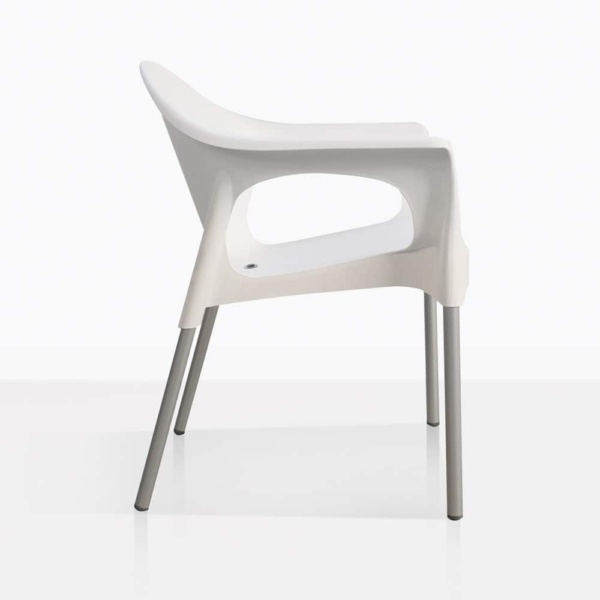 Liz Black Cafe Chair Side In White