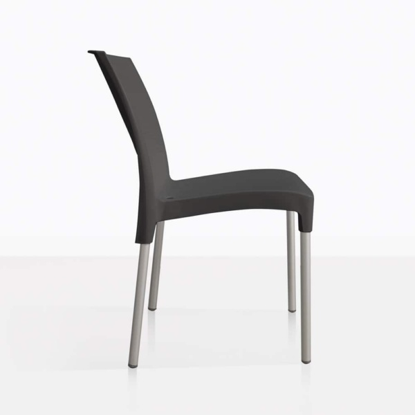 black - side - liz chair
