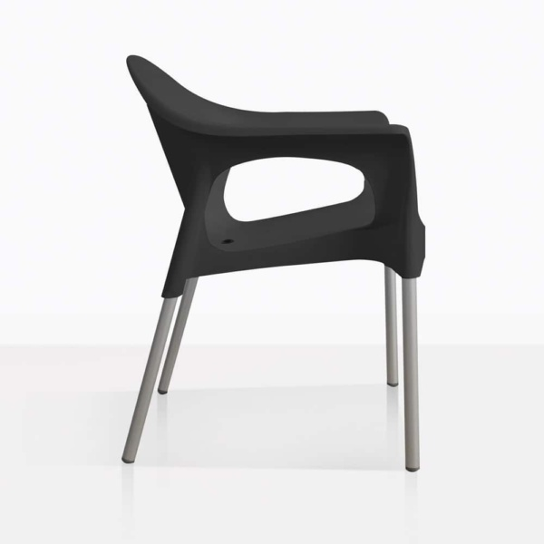 Liz Black Cafe Chair Side
