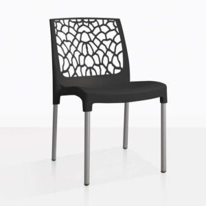 front angle suzi chair in black