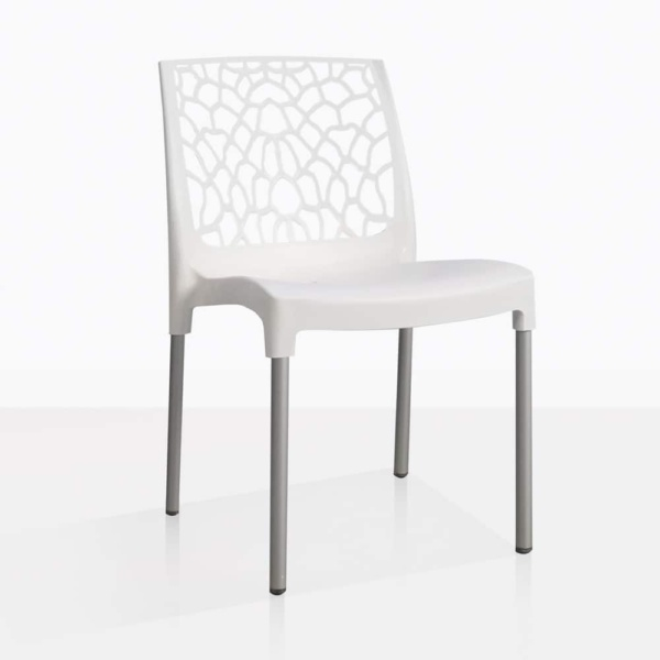 front angle suzi chair in white