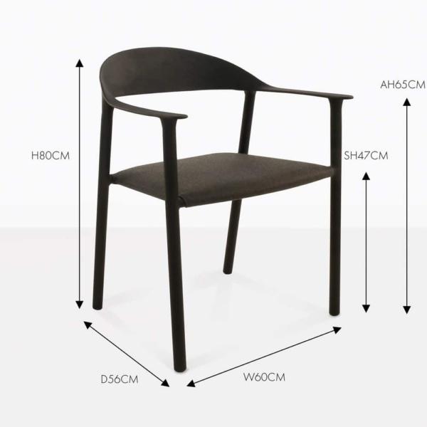 gypsy black dining chair