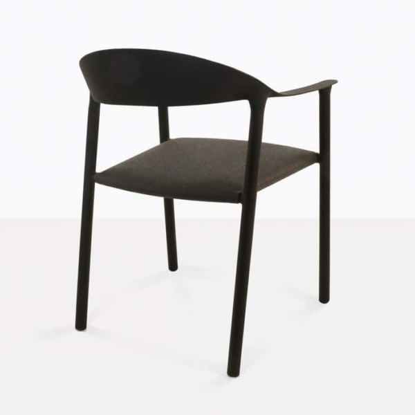 Gypsy modern outdoor dining chair back view