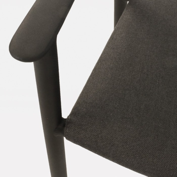Gypsy modern black dining chair closeup