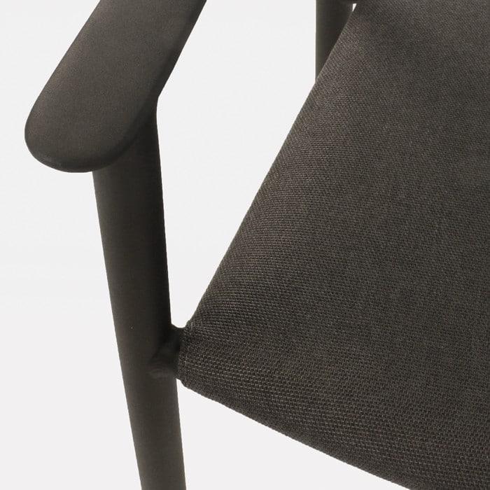 Gypsy modern black dining chair closeup