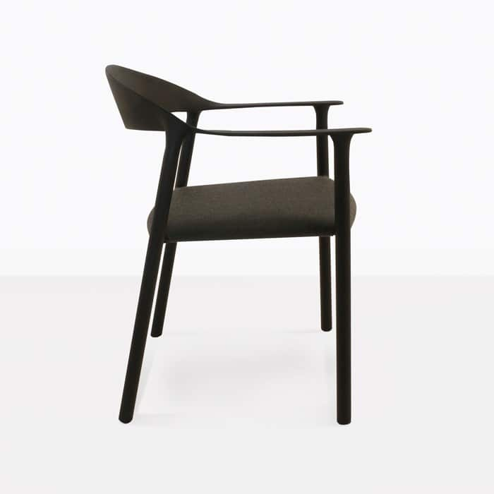 Gypsy modern outdoor dining chair side view
