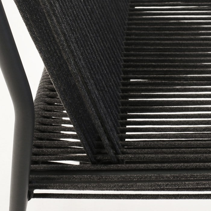 Nero rope chair black closeup corner