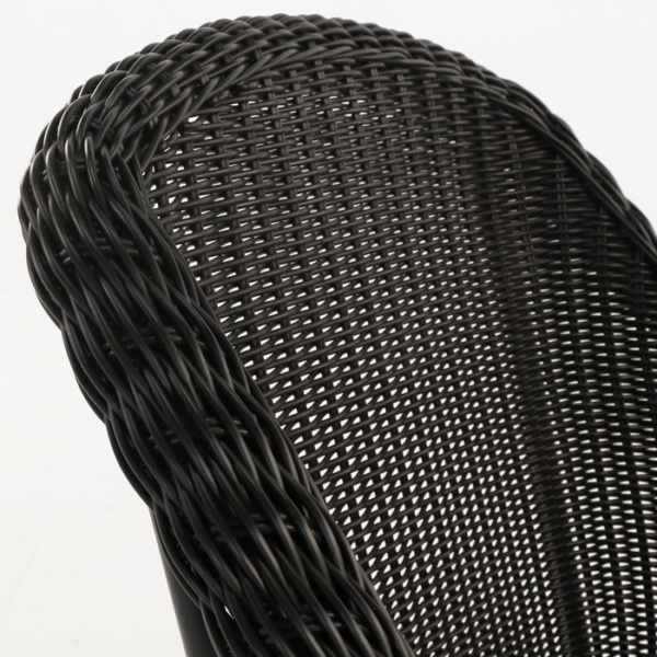 Harbour black wicker weave back closeup image