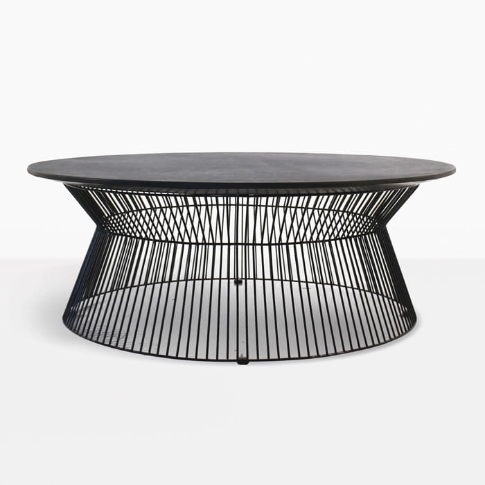 White Coffee Table Nz: Deco Round Outdoor Coffee Table (Black Sand)