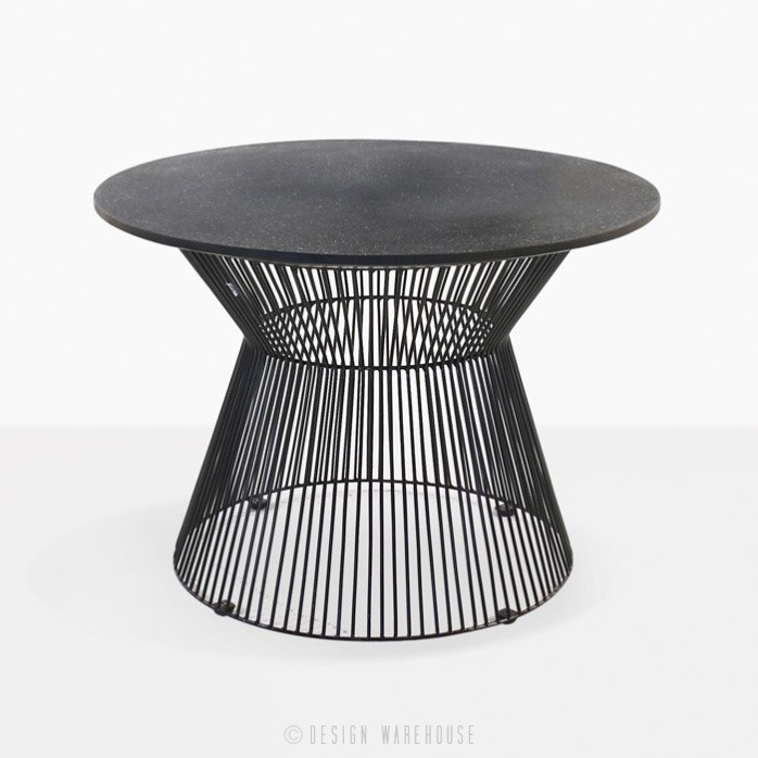 Deco Round Side Table Black Sand Patio Furniture Design