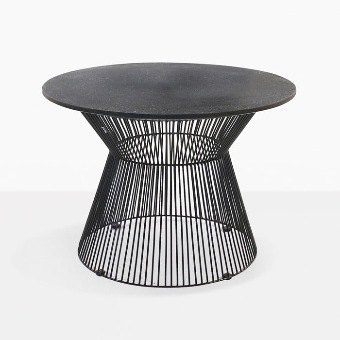 deco round side table black sand patio furniture design warehouse nz. Black Bedroom Furniture Sets. Home Design Ideas