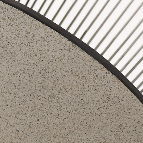 side table top closeup overhead image