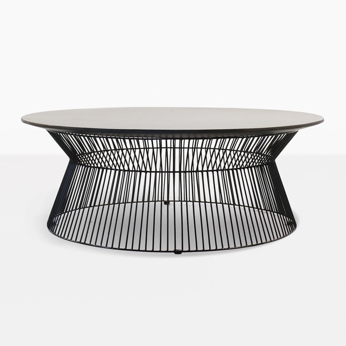 Silver Coffee Table New Zealand: Deco Round Patio Coffee Table (White Sand)