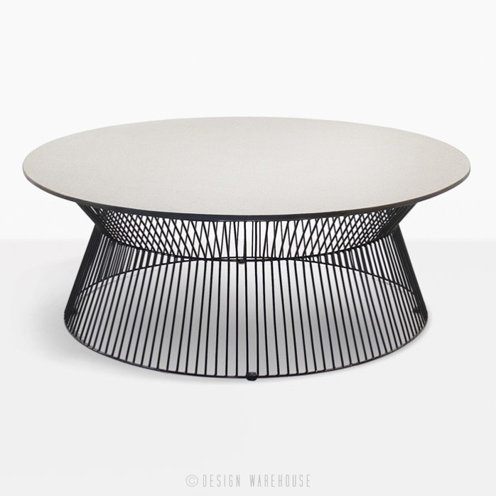 Modern Coffee Tables Nz: Deco Round Patio Coffee Table (White Sand)