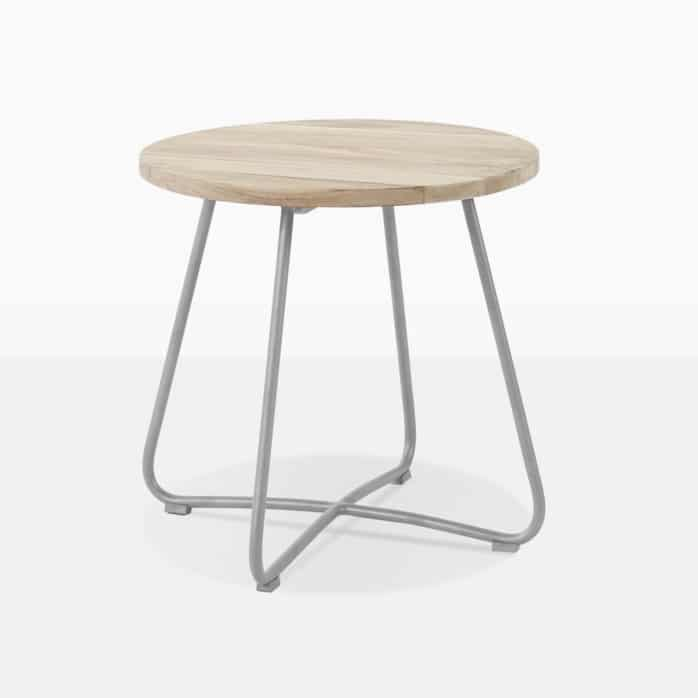 east outdoor side table galvanized