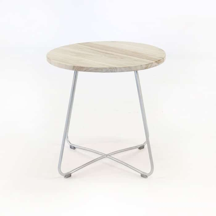 East Driftwood Side Table Galvanized base 3148 full view