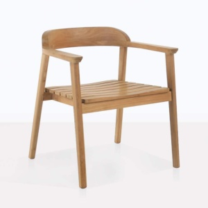 angle view - Neil Teak Chair