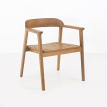 Neil A-Grade Teak Dining Chair front angle view