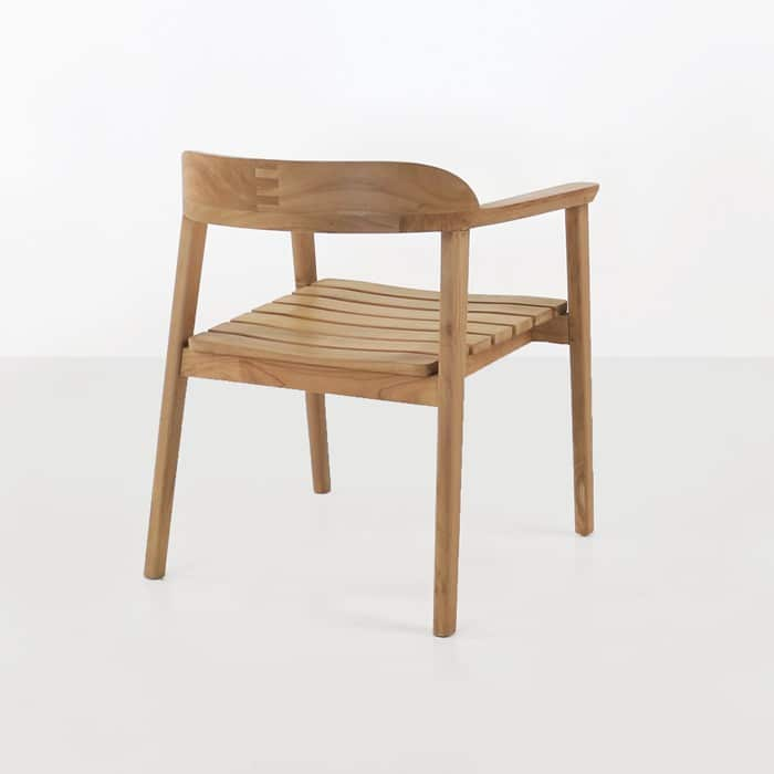 Neil Teak Outdoor Dining Chair Back view