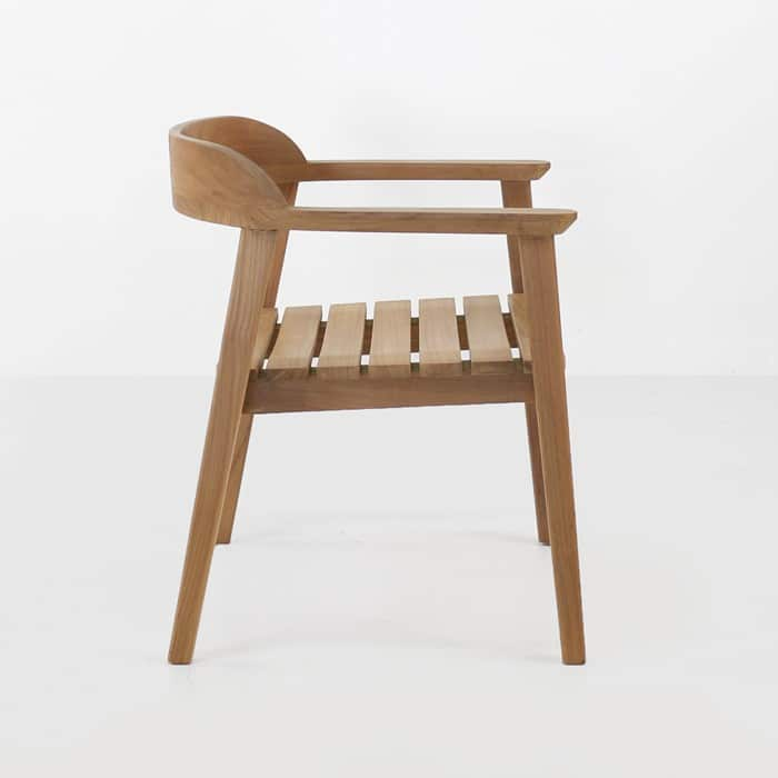 Neil Teak Outdoor Dining Chair side view
