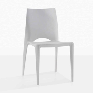 stiletto grey outdoor dining chair polypropylene