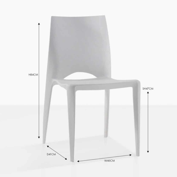 stiletto grey dining chair