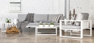 Mykonos White Aluminum Outdoor Seating