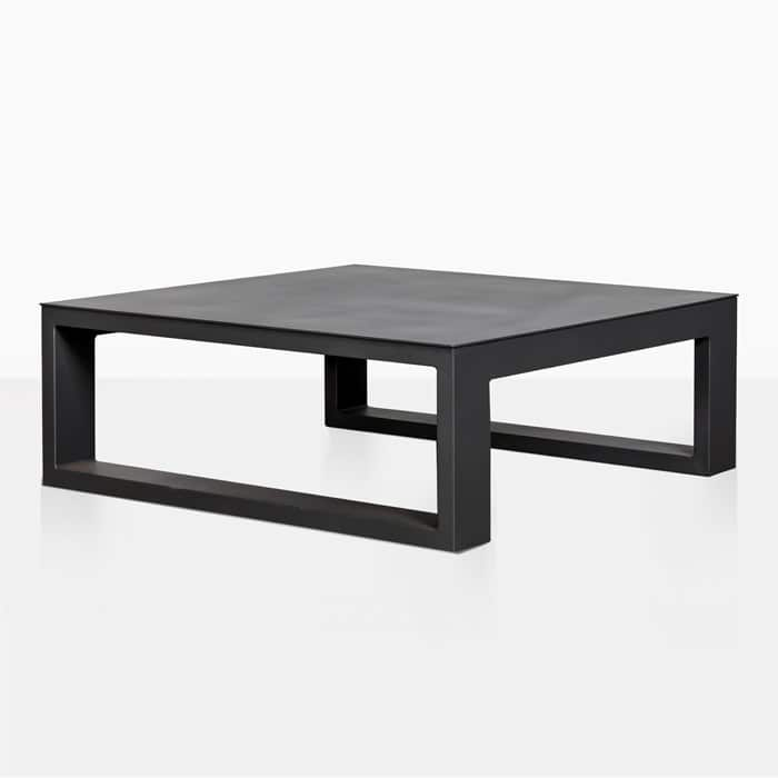 White Coffee Table Nz: Mykonos Aluminum Square Coffee Table (Charcoal)