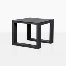 mykonos side table in charcoal angle view