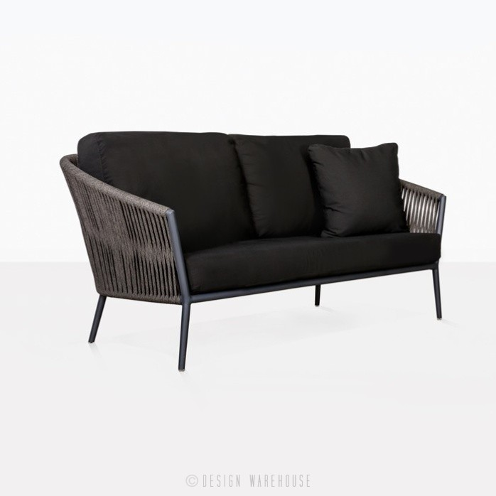 Washington Rope 2 Seater black full view