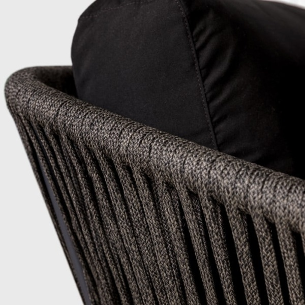Washington Rope Chair black Closeup angle view