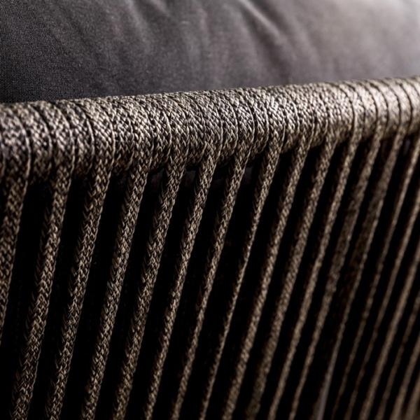 Washington Rope Dining Chair black Closeup