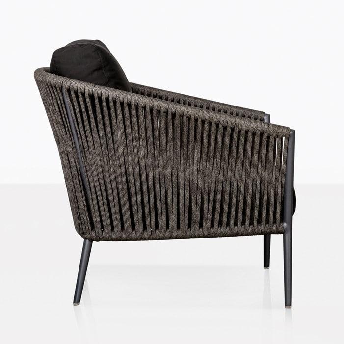 Washtingon Outdoor Lounge Chair black Side view