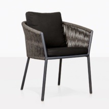 Washington Rope Dining Chair black angle view