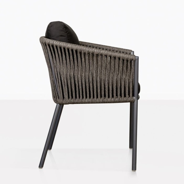 Washington Rope Outdoor Dining Chair black Side