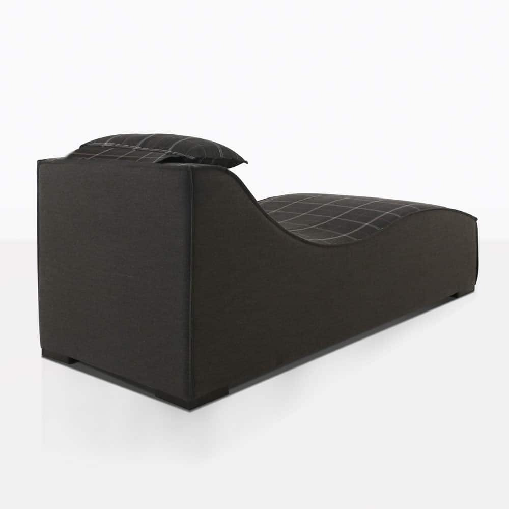 club 21 sun lounger in black patternrear view