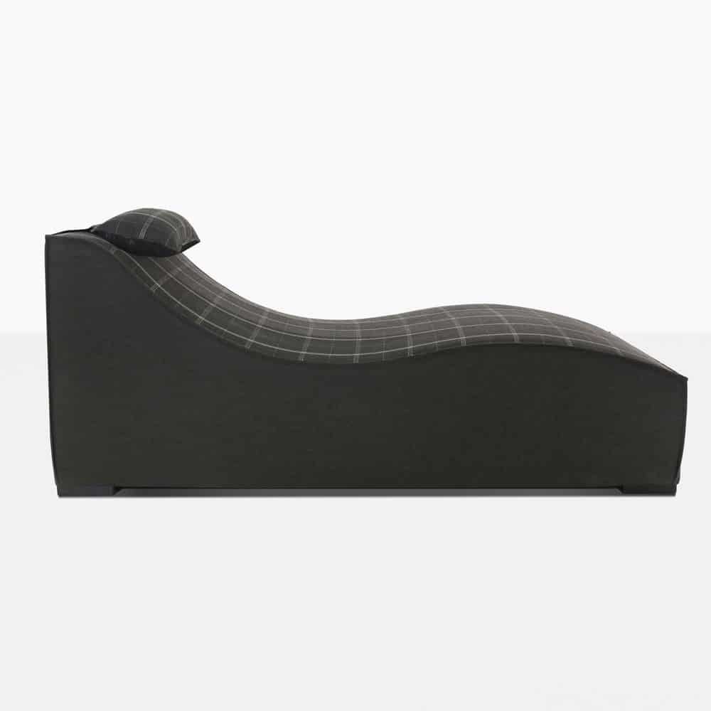 club 21 sun lounger in black pattern side view