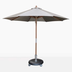 Dixon olefin round market umbrella in grey