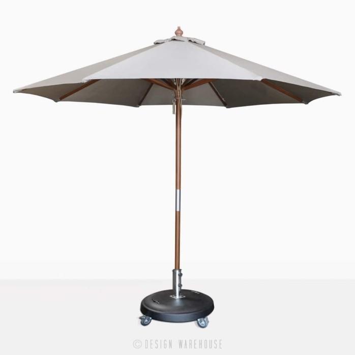 Dixon olefin round market umbrella in grey