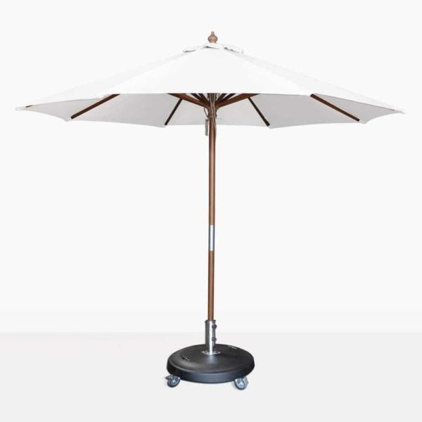 Dixon olefin round market umbrella in white