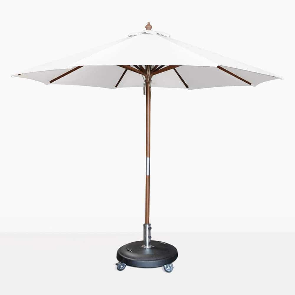 Dixon olefin round market umbrella in white