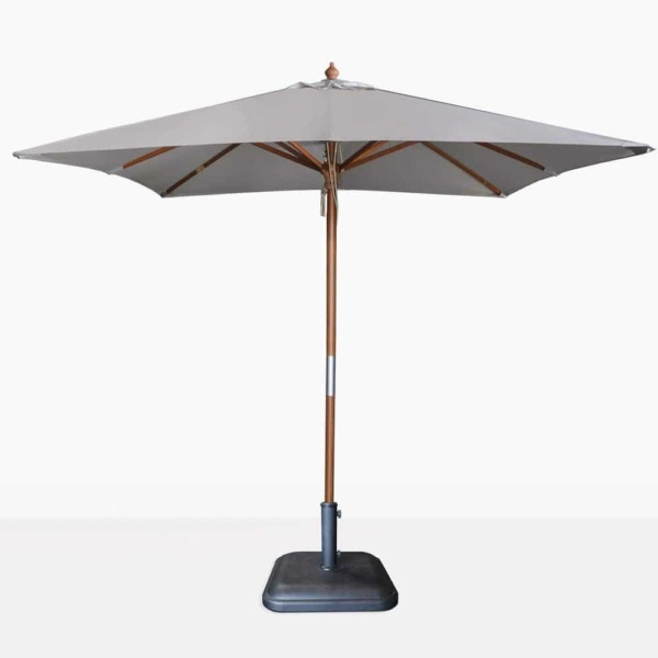 Dixon Market olefin square umbrella in grey